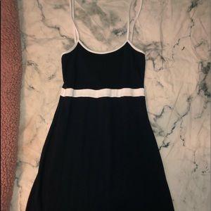 Brandy Melville Navy Blue and White Dress